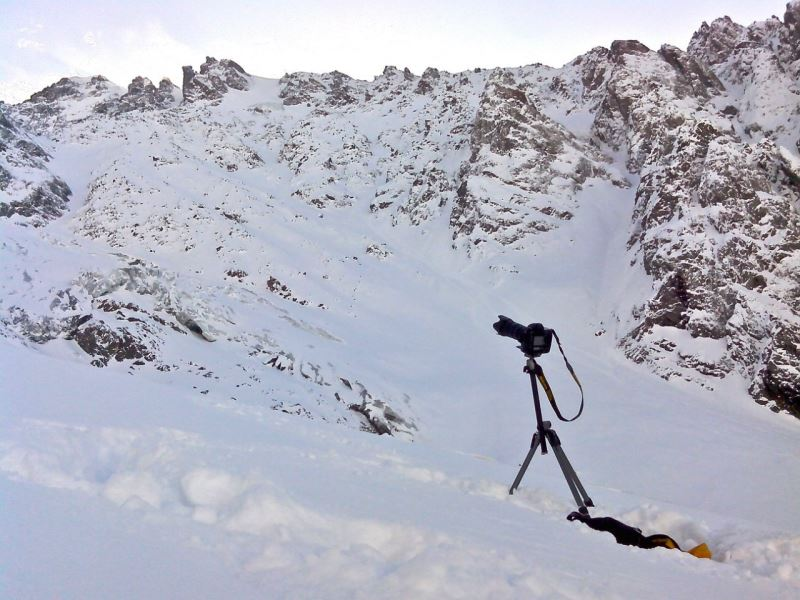 фотоаппарат в горах
