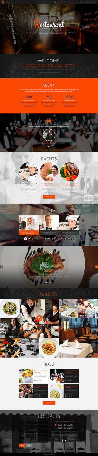 Разработка сайта для кафе