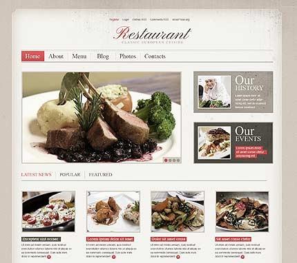 Разработка сайта для ресторана